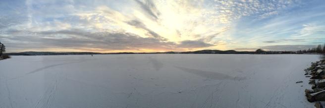 Solnedgång över Kyrkviken